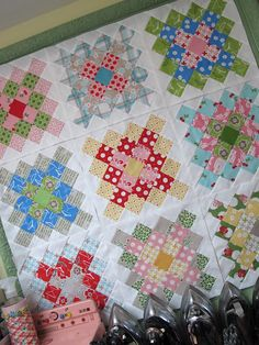 Granny squares from Bee In My Bonnet