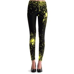 Splatter Legging Black Yellow