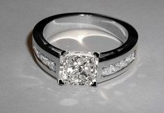 Custom Made 2.5 Ct Radiant Cut Diamonds Ring Wedding Ring Gold New