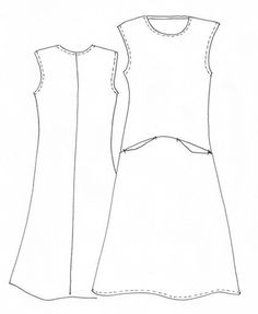 The Pia Dress is a pull-on dress designed with extended shoulder sleeves and exaggerate...