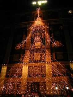Macy's Christmas decorations by Sparky the Neon Cat, via Flickr