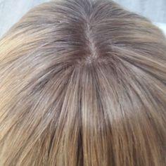 #Peluca de cabello natural indio remy con efecto raiz y simulador de cuero cabelludo muy realista!
