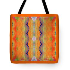Bright Colorful Vibrant Mirror Pattern Tote Bag featuring the painting H.p.mirror Print by Expressionistart studio Priscilla Batzell