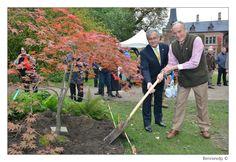 Ter gelegenheid van het bezoek van de ambassadeur van Japan, zijne excellentie Masafumi Ishii, werd er een Japanse esdoorn geplant.
