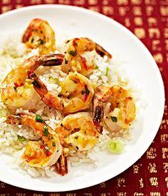 Spicy Citrus Shrimp with Coconut Rice