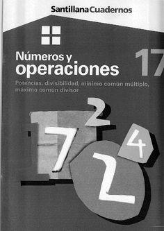 Números y operaciones 17 - Potencias, divisibilidad, minimo común múltiplo, máximo común divisor