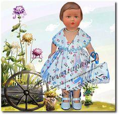 Vêtement MODES ET TRAVAUX juin 1951, poupée 40 cm, Marie-Françoise et autres ❤ Françoise ❤ en robe Modes et Travaux - juin 1951: 22,90 EUR