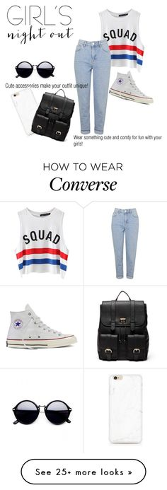 """Untitled #39"" by squishypeach on Polyvore featuring Chicnova Fashion, Topshop, Converse, Sole Society and girlsnightout"