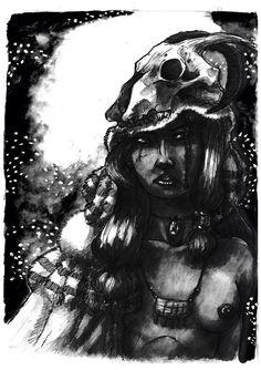 """Amazonas"".2011. Tinta China y Photoshop."