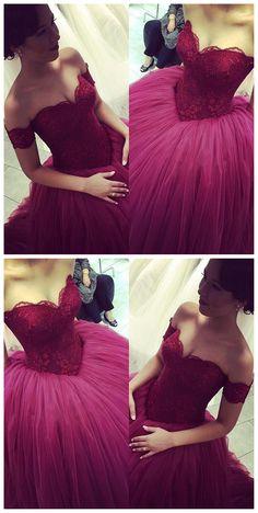 Tulle 2016 Prom dresses, plum prom dresses, lace prom dresses, prom dresses 2016, long prom dresses, cheap prom dresses. 18611
