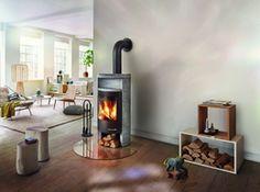 Oryginalny kominek wolnostojący Beo z możliwością zamontowania w domach energooszczędnych i pasywnych.