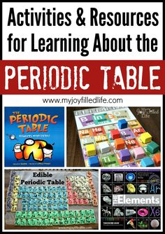 Activities & Resources for Learning About the Periodic Table - My Joy-Filled Life