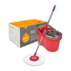 HAPINNEX Spin Mop Wringer Bucket Set - for Home Kitchen Floor Cleaning - Wet/Dry Usage on Hardwood & Tile - Upgraded Self-Balanced Easy Press System with 2 Washable Microfiber Mops Heads Microfiber Mop Heads, Spin Mop, Hardwood Tile, Home Organisation, Cleaning Hacks, Floor Cleaning, Cleaning Products, Clean Freak, Practical Gifts
