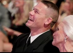 03/31/12 2012 WWE HOF John Cena- His laugh is so adorable, and the fact that he took his Grandmother is so sweet.