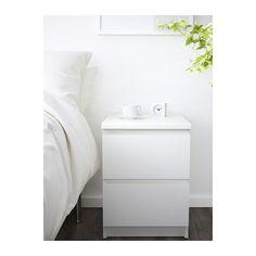 MALM Cómoda c/2 gavetas - branco - IKEA