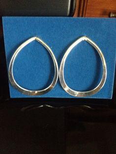Silvertone Hoop Earrings NEW