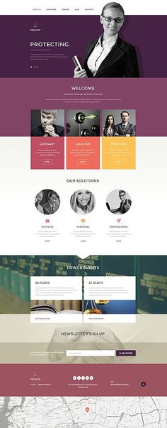 This is a unique and interesting color palette for a law firm that wants to stand out.  WebsitesYES,com