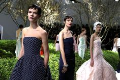 Models are blooming at Dior HC Show spring 2013