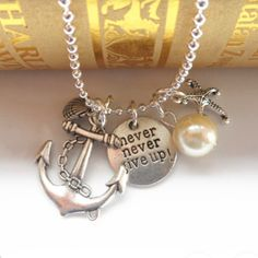 Sailor Anchor Pendant Chain Link Cute Necklace Jewelry Necklaces