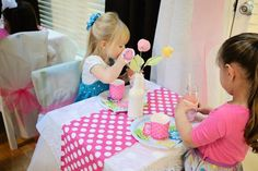 Kara's Party Ideas Dollie and Me Girl 5th Birthday Tea Party Planning Ideas