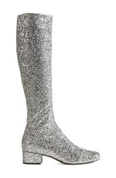 These sparkly Saint Laurent knee high boots are sure to stop traffic.