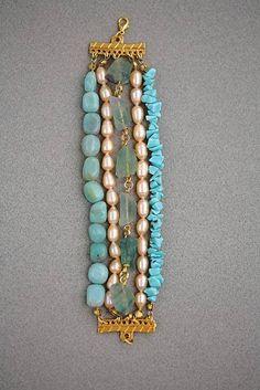 amazonite freshwater pearl turquoise fluorite