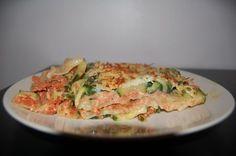 Un plat complet pour 5 points, des lasagnes light qui permettent de se faire plaisir sans que cela se retrouve sur nos cuisses. - Recette Plat : Lasagnes courgettes tomate poulet pour 5pts ww par La cuisine de Bibounette