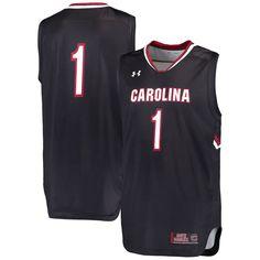 873651eefcf  1 South Carolina Gamecocks Under Armour Replica Basketball Performance  Jersey - Black