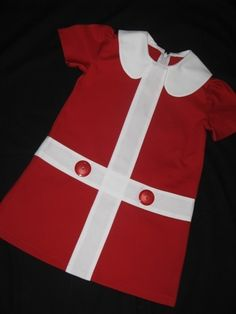 Retro 1960's style  Lauren red and white by faithworks4u on Etsy, $48.00    Kind of lil' orphan annie, but cute for holidays
