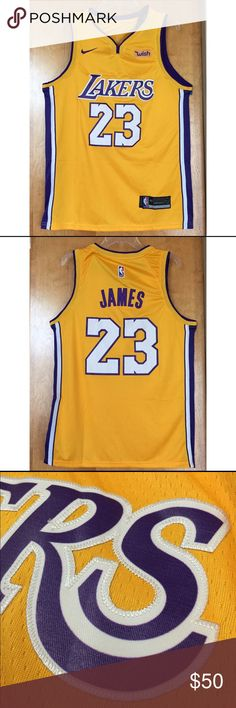 c10526f2a 100% STITCHED LEBRON JAMES LAKERS GOLD JERSEY 100% stitches LeBron James  Los Angeles Lakers jersey. Ready to ship immediately after purchase.