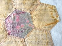 Kim Andersen - art in red wagons: how I stitch teabag paper