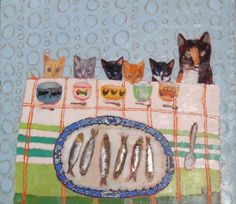 """""""You Shall All Have Fishes"""" by Vanessa Cooper (oil on canvas)"""
