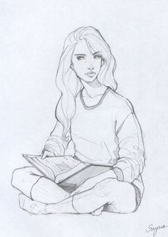 Reading Girl by Sayara-S on deviantART