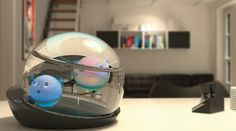 The Capsule is a sealed tank that contains LumiPuff powered through wireless induction chargers built into the base of the tank