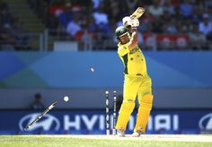 AUCKLAND, NEW ZEALAND - FEBRUARY 28:  Aaron Finch of Australia is bowled by Tim Southee of New Zealand during the 2015 ICC Cricket World Cup match between Australia and New Zealand at Eden Park on February 28, 2015 in Auckland, New Zealand.