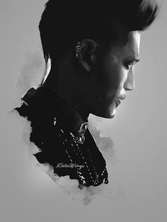 """malecwings: """" My new digital painting of Magnus Bane. Available on Redbubble! (25 products : t-shirts, phone cases, mugs, journals, etc. Click here!) """""""