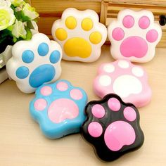 Cat Paw Shaped Mini Contact Lenses Case