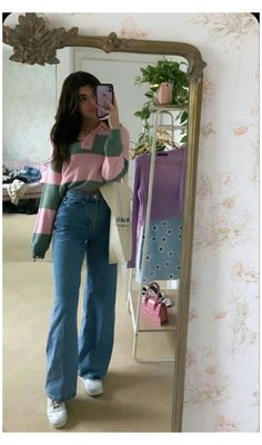 Adrette Outfits, Skater Girl Outfits, Indie Outfits, Teen Fashion Outfits, Retro Outfits, Cute Casual Outfits, Look Fashion, Fall Outfits, Vintage Outfits
