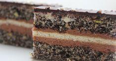 Trostruki užitak s makom Torte Recepti, Kolaci I Torte, Baking Recipes, Cake Recipes, Dessert Recipes, Poppy Seed Dessert, Bosnian Recipes, Something Sweet, Cake Cookies