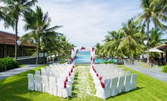 The Nam Hai Hoi An | 5 Star Boutique Luxury Hotel Vietnam | GHM Hotels - Intimate weddings by the pool overlooking Ha My Beach
