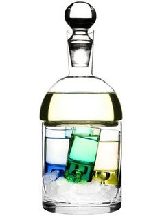 Carafe and Ice Container with Four Shot Glasses design by Sagaform