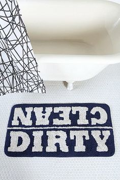 Clean/Dirty Bath Mat