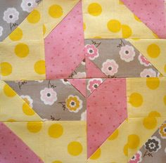 44th Street Fabric: Virtual Quilting Bee Block #4--love the colors