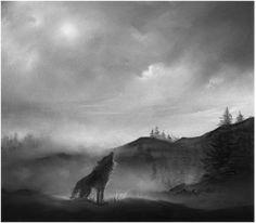 The Scottish legend of the Cu Sith, or fairy dog Sith, Celtic Mythology, Hobgoblin, Archetypes, Mythical Creatures, Mystic, Fairy Tales, Fantasy, Full Moon