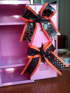mini cheer bow locker magnet on Etsy, $5.00