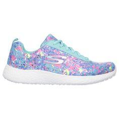 Skechers Women's Burst Illuminations Memory Foam Running Shoes (Turquoise/Multi/Pink)