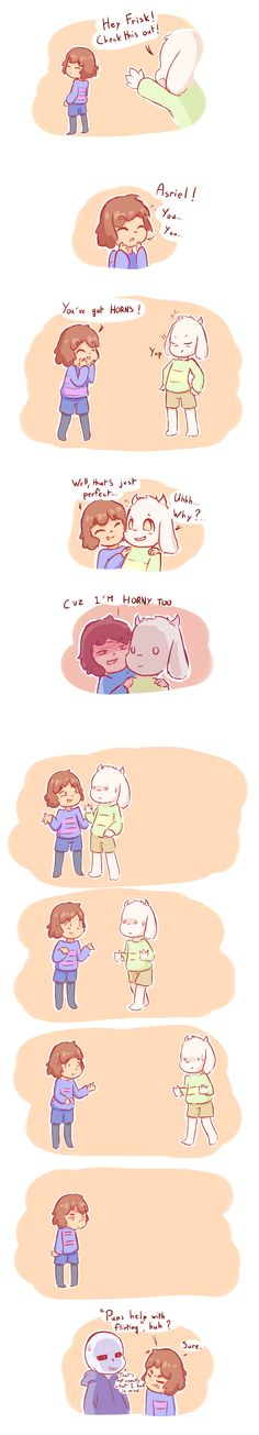 Frisk and Asriel Undertale comic by greatlordhelix