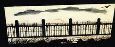 front, men fishing off pier