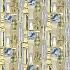 Hayward in blue/yellow, 50s fabrics, Sanderson