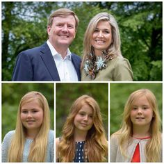 Koning Willem Alexander, Koningin Máxima en hun dochters Prinses Amalia, Prinses…